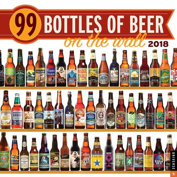 99 Bottles of Beer on the Wall Kalendarz 2018