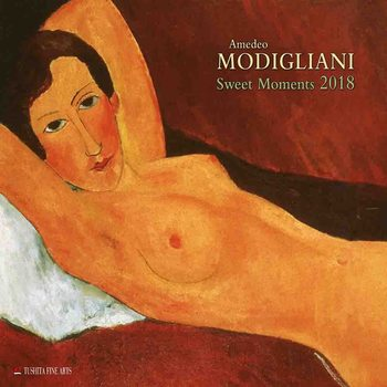 Amedeo Modigliani - Sweet Moments Kalendarz 2018