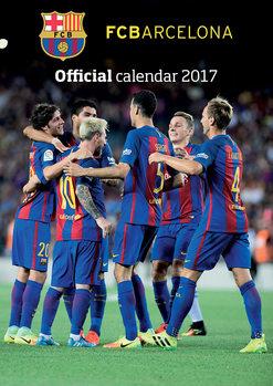 Barcelona + 12 free stickers Kalendarz 2017