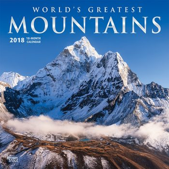 Calendar 2018 - Mountains, Worlds Greatest Kalendarz 2018