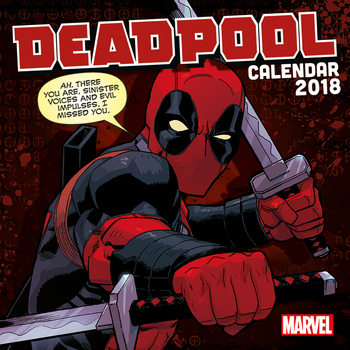 Deadpool Kalendarz 2018