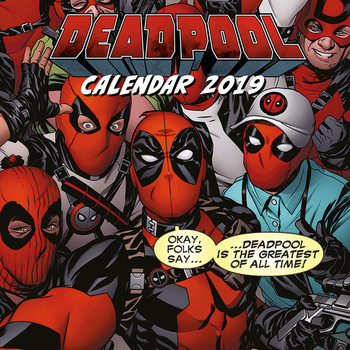 Deadpool Kalendarz 2019