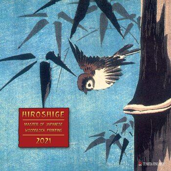 Hiroshige - Japanese Woodblock Printing Kalendarz 2021