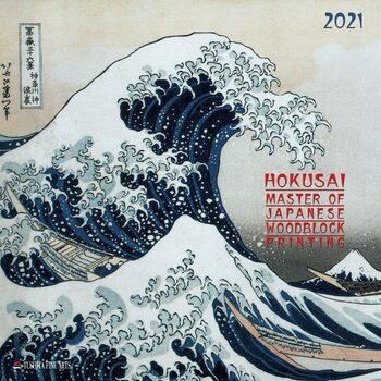 Hokusai - Japanese Woodblock Printing Kalendarz 2021
