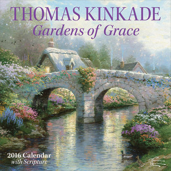 Thomas Kinkade - Gardens of Grace Kalendarz 2017