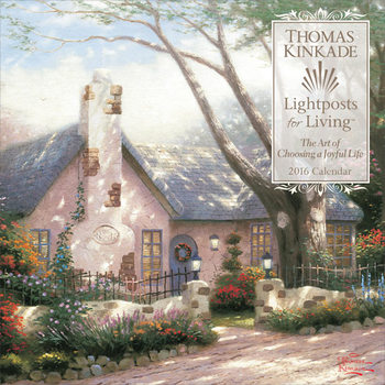 Thomas Kinkade - Lightposts for Living Kalendarz 2017