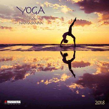 Yoga Surya Namaskara Kalendarz 2018