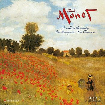 Claude Monet - A Walk in the Country Kalendarz 2022