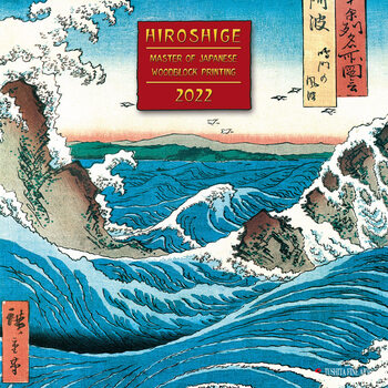 Hiroshige - Japanese Woodblock Printing Kalendarz 2022