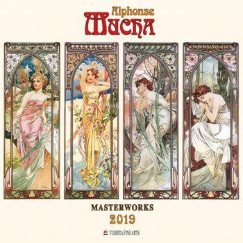 Kalender 2019 A. Mucha - Masterworks