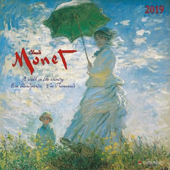 Kalender 2019  C. Monet - A Walk in the Country