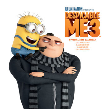 Kalender 2018 Despicable Me (Dumma mej) - Multi Language