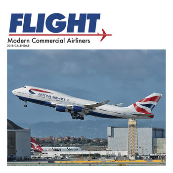 Kalender 2018 Flight, Modern Commercial Airliners