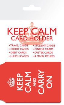 Kartenhalter Keep Calm And Carry On