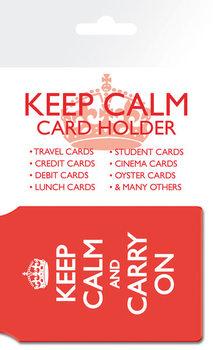 Keep Calm And Carry On kártyatartó
