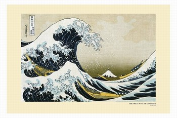 Katsushika Hokusai- a great wawe of kanagawa  - плакат (poster)