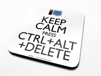 Keep Calm Alt Delete alátét