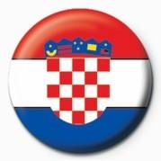 Flag - Croatia - Kitűzők