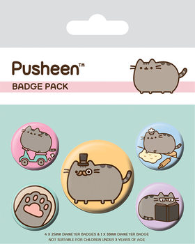 Pusheen - Fancy kitűző