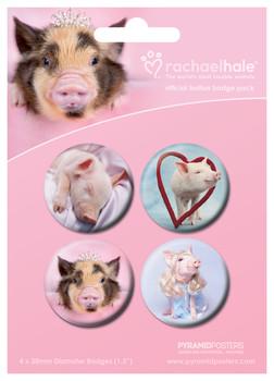 RACHAEL HALE - cerdos kitűző
