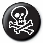Kitűzők Skull & Crossbones (B&W)