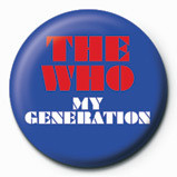 WHO - my generation logo - Kitűzők
