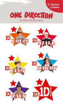 Sticker ONE DIRECTION - stars with glitter