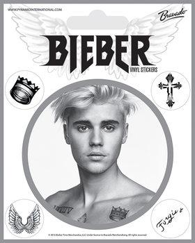 Klistermærke Justin Bieber - Bieber Black and White