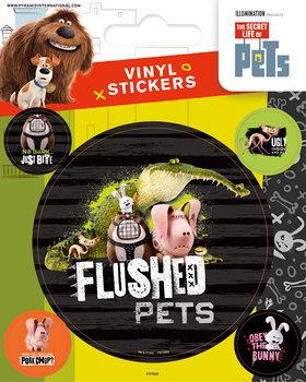 Klistermærker Kæledyrenes hemmelige liv - Flushed Pets