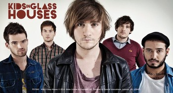 Klistermærker KIDS IN GLASS HOUSES – band