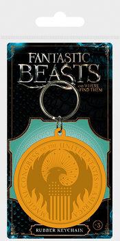 Kľúčenka Fantastické zvery a ich výskyt - MACUSA Logo