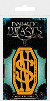 Kľúčenka Fantastické zvery a ich výskyt - Newt Scamander Logo