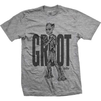 Koszulka z krótkim rękawem  Avengers - Infinity War Teen Groot Line Art