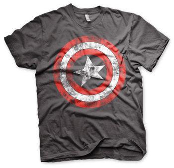 Koszulka z krótkim rękawem Captain America - Distressed Shield