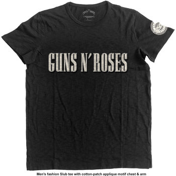 Koszulka z krótkim rękawem Guns N Roses - LOGO & BULLET CIRCLE