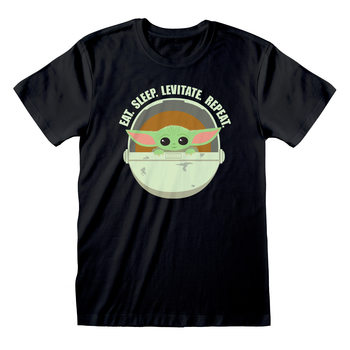 Koszulka z krótkim rękawem Star Wars: The Mandalorian - Eat Sleep Levitate