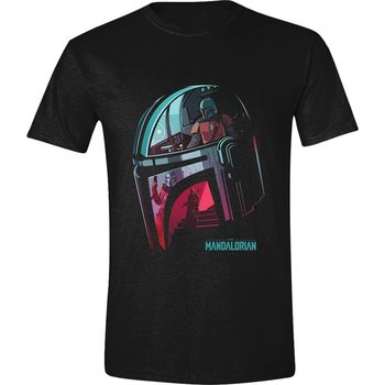 Koszulka z krótkim rękawem Star Wars: The Mandalorian - Helmet Reflection