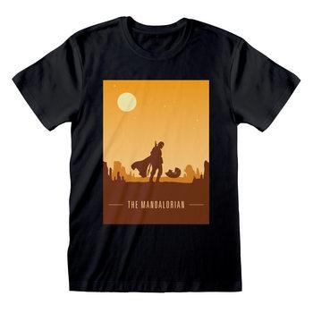 Koszulka z krótkim rękawem Star Wars: The Mandalorian - Retro Poster