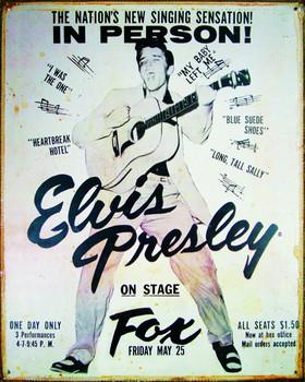 ELVIS PRESLEY - vintage Kovinski znak