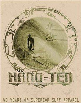 HANG TEN - good fortune Kovinski znak