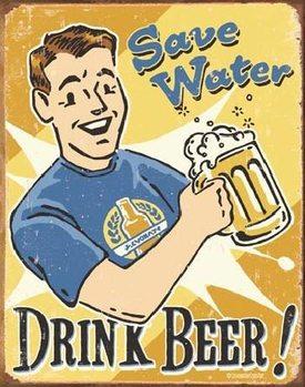 SCHOENBERG - save water Kovinski znak