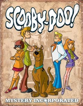 Scooby Doo - Gang Retro Kovinski znak