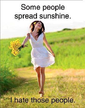 Spread Sunshine Kovinski znak
