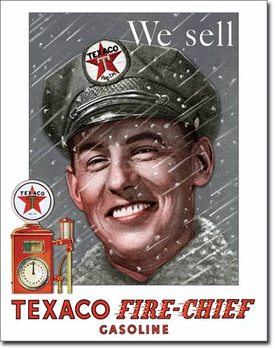 Texaco - Pump Attendant Kovinski znak