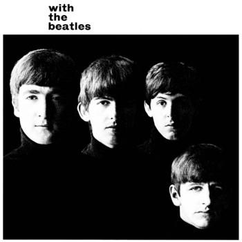 WITH THE BEATLES ALBUM COVER Kovinski znak