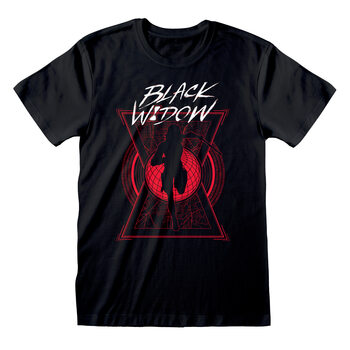 Black Widow - Text And Silhouette Kratka majica