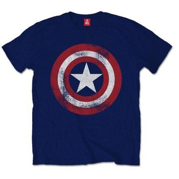 Captain America - Distress Shield XXL Kratka majica