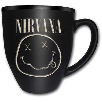 Nirvana – Smiley Matt Engraved Krus