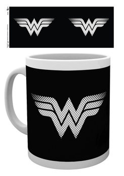 DC Comics - Wonder Woman monotone logo Kubek