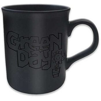Green Day - Flowerpot Logo Matt Black Kubek